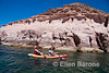 Sea kayaking, Ensenada Grande, Isla Espiritu Santo, Sea of Cortez, Baja California, Mexico.