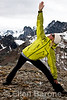 Yoga instructor, Angie XXX, Bodacious in the Bugaboos, Heli-hiking vacation, Canadian Mountain Holidays, Canada.
