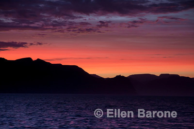 Sunset, Sea of Cortez, Baja California, Mexico.