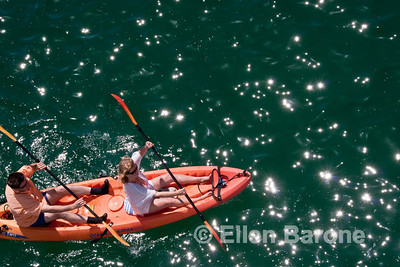 Safari Quest passengers, sea kayaking, Sea of Cortez, Baja California, Mexico.