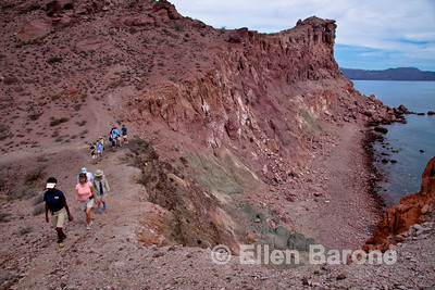 Safari Quest passengers, hiking, Isla Danzante, Sea of Cortez, Baja California, Mexico.