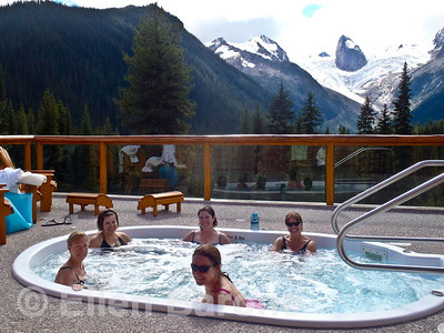 The 'Bodacious Babes', women-only getaway, Bugaboo lodge, Heli-hiking vacation, Canadian Mountain Holidays, Canada.