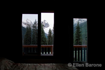 Room with a view, Fairweather room, Bugaboo lodge, Heli-hiking vacation, Canadian Mountain Holidays, Canada.