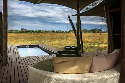 Private plunge pool, luxury safari, &Beyond Xaranna Okavango Delta Camp, Botswana
