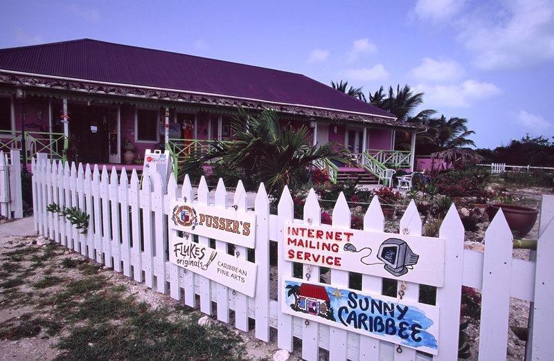 Sue's Purple Turtle Boutique & Gifts offers convenient mail and Internet service on Anegada, British Virgin Islands (BVI), West Indies, Caribbean