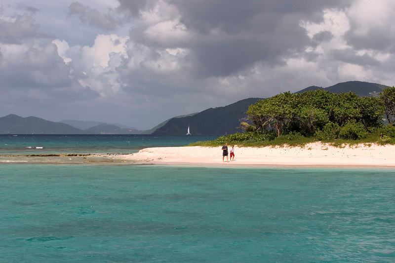 Sandy Cay,a small islet surrounded by turquoise water, fits the bill for desert-island paradise owned by Laurence Rockefeller, east of Jost Van Dyke, British Virgin Islands (BVI), West Indies, Caribbean.