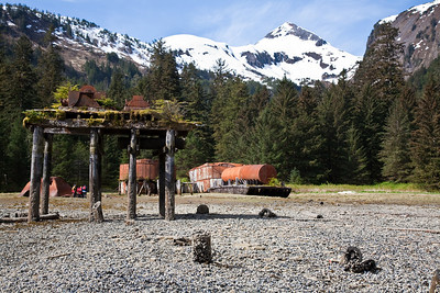Little Port Walter, turn of the century herring saltery ruins, Baranof Island, southeast Alaska, USA.