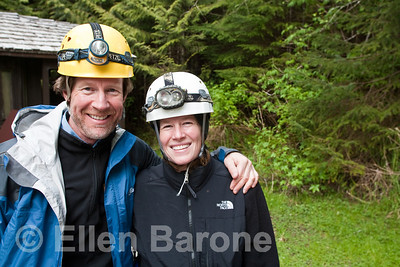 Innersea Discoveries Cruise passengers, spelunking, El Capitan Cave, the largest known cave in North America, Prince of Wales Island, Inside Passage, Alaska, USA