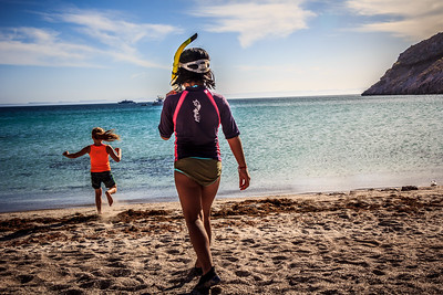 Children at play, Sea of Cortés, Baja California Sur, Mexico. *Note: Un-Cruise Adventures offers specialty Kids in Nature voyages for families traveling with children 12 and younger.