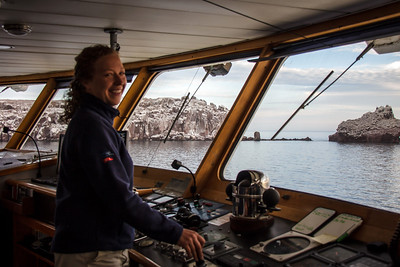 Captain Kendra Nelsen, Safari Endeavour, Sea of Cortés, Baja California Sur, Mexico.