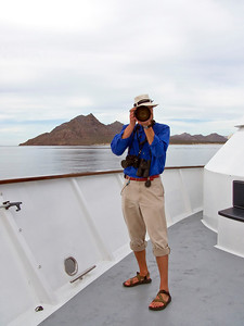 Expedition leader and ship's photographer, Kevin Martin, Safari Quest, Sea of Cortez, Baja California Sur, Mexico.