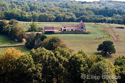 A tidy country home near Domme, France. Dordogne River valley.