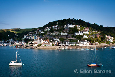 A view from Dartmouth across the River Dart to Kingswear in Devon, England, U.K.