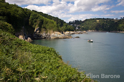Devon headlands and River Dart, Dartmouth, Devon, England, U.k.