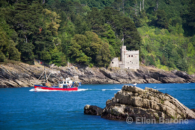 Dartmouth castle and River Dart, south Devon, England, U.K.