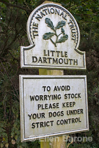 Ever polite National Trust signage, Devon, England, U.K.