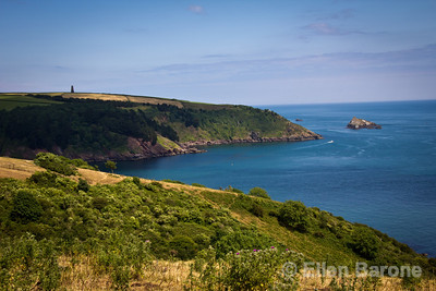 South Devon coastline and English Channel, England, U.K.