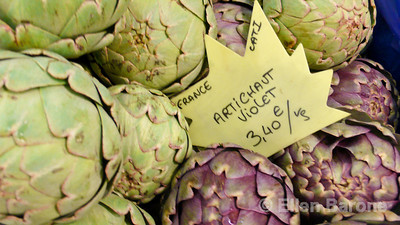 Artichokes, a staple of provencale cuisine, Provence, France, Europe