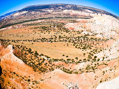 View from Chimney Rock trail, Ghost Ranch, Abiquiu, New Mexico.