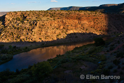 Rio Chama at sunset, Abiquiu, New Mexico.