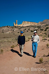 Wayfarers David Saunders and Jim Piros, Ghost Ranch, Abiquiu, New Mexico.