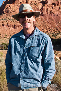 Wayfarer walk leader Tom Ribe, Ghost Ranch, Abiquiu, New Mexico.