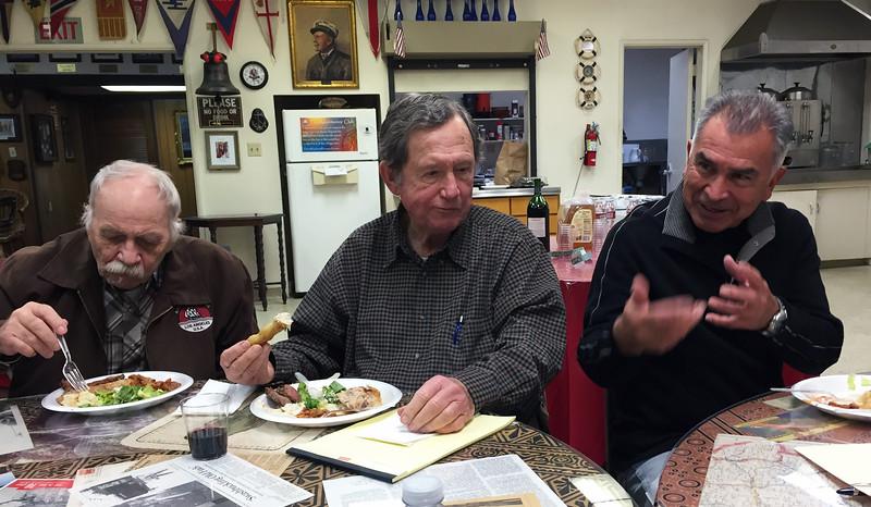 Steve Hodel presentation night, Jimmy Stewart, Jim Heaton, & Gene Arias
