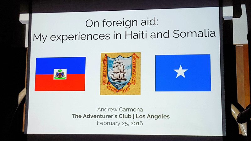 Andrew Carmona presentation.<br /> February 25, 2016<br /> Photo by Carey Brenner