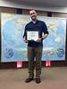 Newest member, Dan Brown, #1189, receives membership certificate on March 3, 2016.