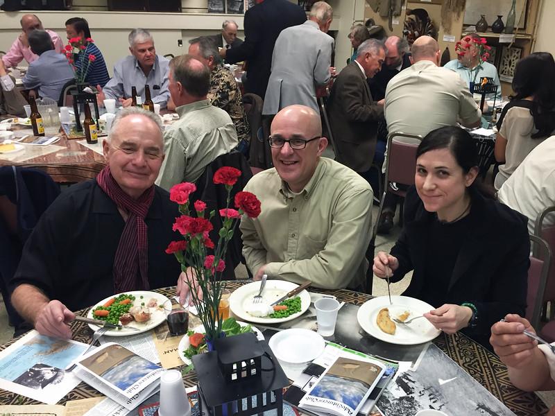 Steve Hodel presentation night, Martin Bloom, Bryan Kressie & wife