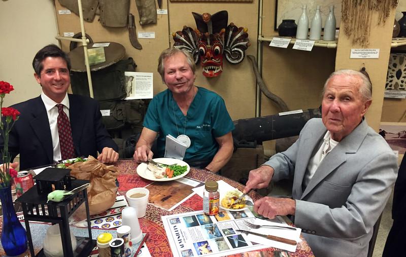 Steve Hodel presentation night, Vince Weatherby, Paul Straub, & Sid Halburn