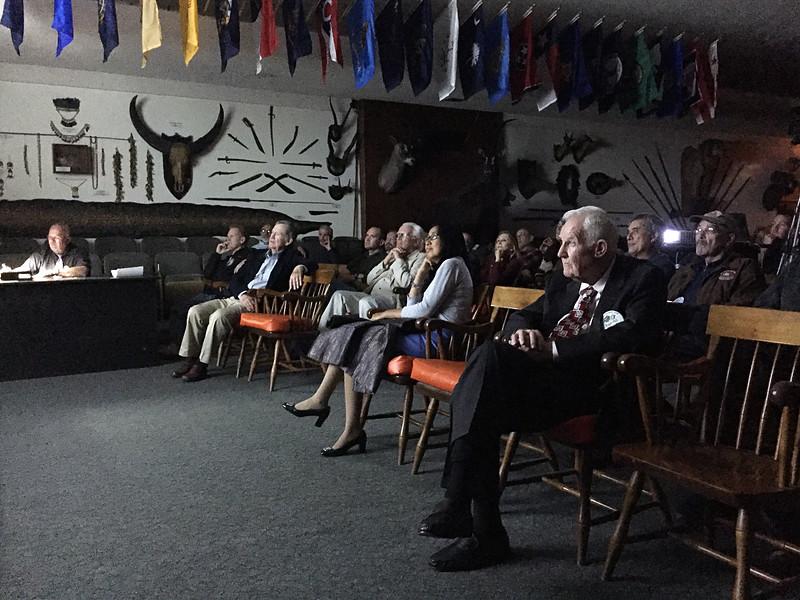 Audience at Michael Bozrath presentation<br /> May 5, 2016