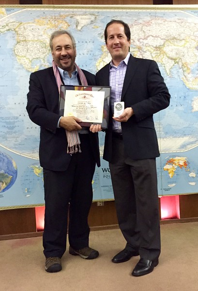 "Steve Gitlin, Jeff Holmes<br /> ""Honoring Paul MacCready"" presentation<br /> May 12, 2016"