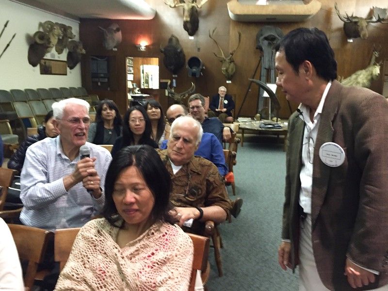 Paul Wong takes questions from the audience<br /> June 2, 2016