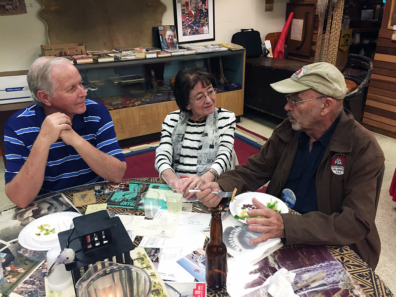 Steve with guests<br /> Michael Bozrath presentation<br /> May 5, 2016