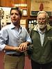 Pigeon-catcher extraordinaire, Vince Weatherby, and Bernie Harris<br /> Matt Allison Presentation, April 21, 2016
