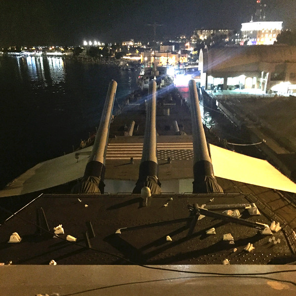 """16"""" guns aboard the Battleship USS Iowa"""