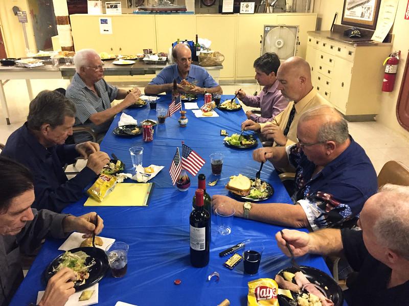 ACLA Dinner & Board Meeting, wardroom, aboard the battleship USS Iowa
