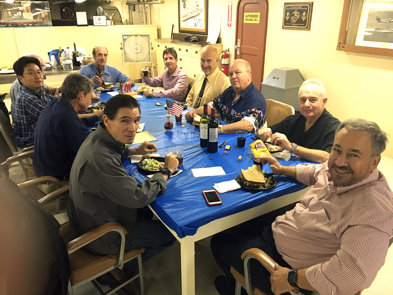 ACLA dinner and Board Meeting, wardroom, aboard the battleship USS Iowa<br /> Photo: Michael Lawler
