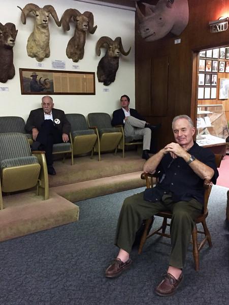 Martin, Jimmy, Vince.<br /> Business meeting.<br /> November 3, 2016