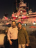 Jeff Holmes & Vince Weatherby in front of the Battleship USS Iowa, venue for the ACLA November board meeting.