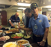 Dinner aboard the Battleship USS Iowa, Wardroom