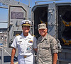 Captain Rich Abele & SSgt Gene Arias, aboard the battleship, USS Iowa.