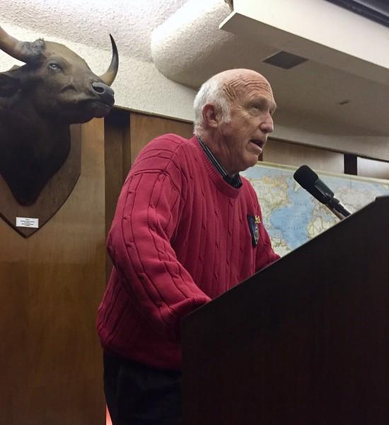 Bob Zeman recites a poem