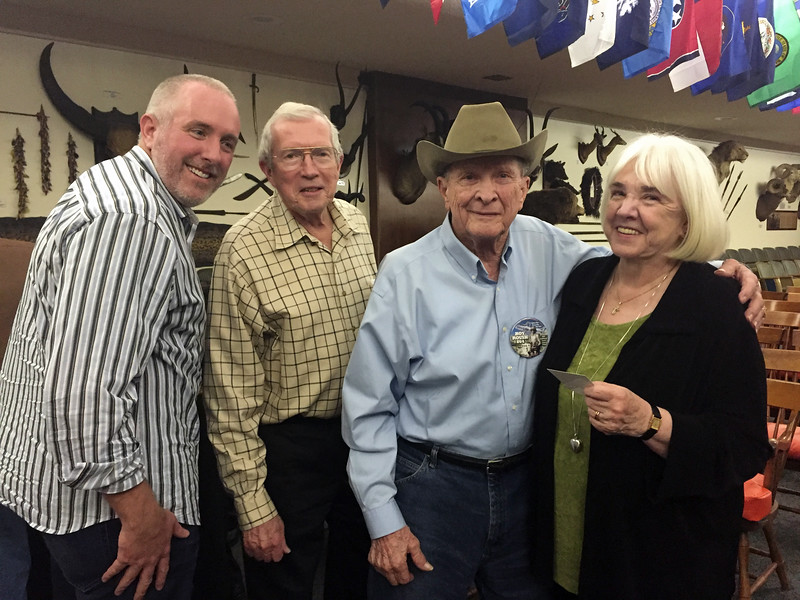 """Vic, Mike & Elsa Smith, with Roy Roush<br /> Kevin Lee presentation, """"Diving the Seven Continents""""<br /> February 11, 2016"""