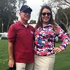 Gene Arias, with Leigh Russell<br /> Northern Trust Open, Riviera Country Club<br /> Pacific Palisades, CA<br /> February 17, 2016