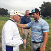 Sol Liebster and Mark Wahlberg<br /> Northern Trust Open, Pro-Am day<br /> Riviera Country Club, Pacific Palisades, CA