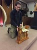 Chuck plays the Indonesian angklung.<br /> January 5, 2017