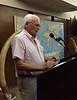 Eric Flanders introducing speaker Michael Lawler<br /> August 24, 2107