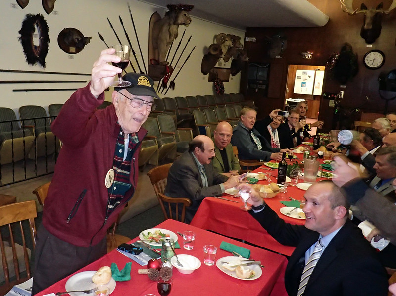 Toast by longest member (present), Bob Aronoff, #837, inducted in 1972
